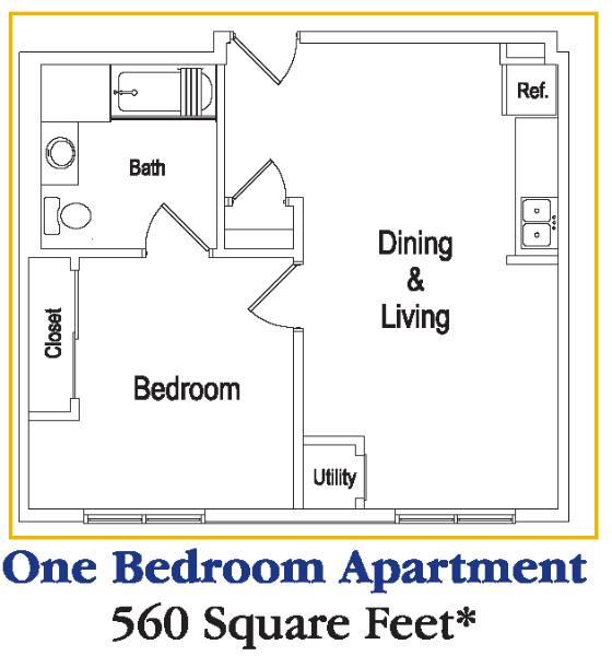 Senior living at the residences at deer creek for Retirement apartment plans